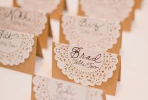Place cards and seating plans
