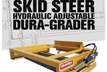SSHA Series Dura-Grader / The original hydraulically adjustable skid steer grader, with our patented 4 blade design.  Adjust your blade angle without leaving the cab of you skid steer!!!