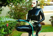Latex catsuits