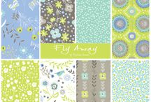 ::: Fly Away ::: / Phyllida Coroneo's second fabric collection for Dashwood Studio, Fly Away, is a whimsical, nature inspired collection but this time in lime greens, cornflower blues, greys and mint greens