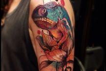 Tattoo caméléon