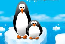 Penguins / Cute, fun, adorable penguins for pre-school and kindergarten aged kids. Birthday party and special events cakes. Fun arts and crafts with penguins!