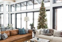 Modern mountain apartment interior