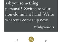 Daily Writing Prompts / To find out more and sign up for daily writing prompts visit: http://www.sarahselecky.com/daily-prompts