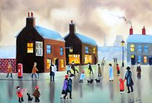 Street scenes / These are my paintings based on the work of L.S. Lowry