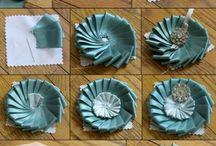 текстильные броши, украшения