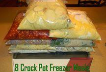 Make ahead crockpot freezer meals