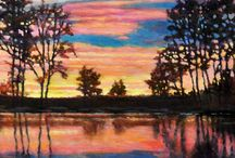 Sunset Paintings / Paintings of beautiful sunset and surroundings that inspired!