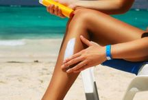 Skin Care in the Sun / Add a hat, wear a sarong and lather on sun screen to protect your skin at the beach.