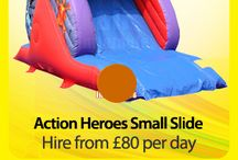 Action Heroes Slide £80 per hire / Bouncy Castle Hire, Action Heroes Small Slide