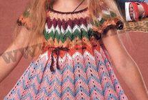 crochet skirt and dress