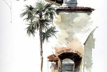 Art, painting and watercolor