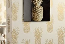 Trends - Totally Tropical / Make it Summer all year round with flamingos, pineapples and palm tree wallpaper designs. Now pass me that cocktail!