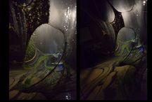 Textile installation  - Natura Sospesa - by J.v.Stietencron / suspended nature - art