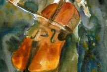watercolour jazz musicians / by Kim Dickson Greeff