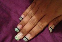 nail art / My first attempt at nail art with gel nails