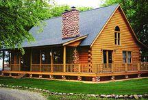 Log house ideas / by Janine Carroll