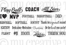 Sport Sentiments / Inspiration for this stamp set!
