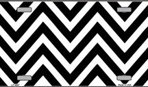 Chevron Chevron and More Chevron / Chevron patterned blank aluminum novelty license plates and signs