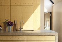 Kitchen - concrete and timber