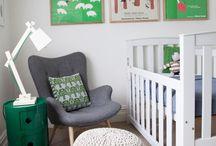 babykamer jongens groen