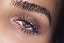 eyebrows and eyelashes