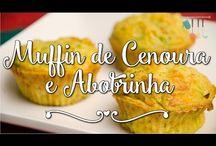 Muffin de cenoura e abobrinha