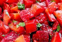 Salater / Jordbærsalsa