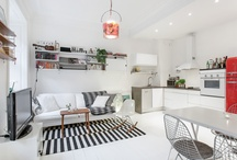 compact living room / kitchen