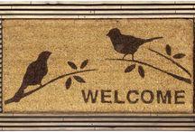 Indoor Outdoor Mats / Welcome home door indoor/outdoor mats found online stores including own.