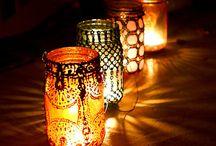 Dot & Bo Handpainted Mason Jar Lanterns