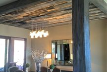 wood posts and ceilings