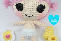 Knitted lalaloopsie dolls