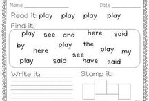 Literacy - sight words practice / by Jodie Worthington