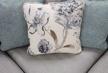 C U S H I O N S / Selection of scatter cushions available at Finline. Two cushions come with each sofa bought.