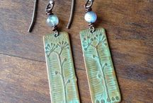 Etched copper, brass and silver