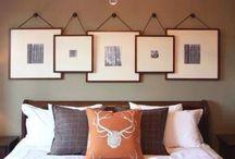 Bedroom wall frame ideas