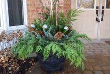 winter planters diy