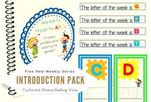 Letter of the Week ABC Series / Sing your way through the alphabet with free weekly ABC printable series! / by Jill {Enchanted Homeschooling Mom}