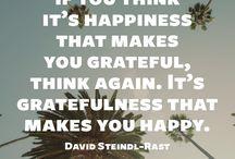 Inspiration: Gratitude & Being Thankfull