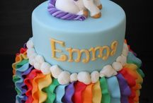 5th birthday / Unicorns and rainbow party