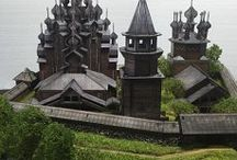 Diorama (H0,Kiji,Russia) - My Hobby / Kiji,Russia.  In 1990, UNESCO architectural complex of the Kizhi Pogost included in the List of world cultural and natural heritage.