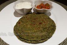 Spinach paratha / Recipe