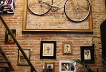Bicycle Art / Great bicycle inspired art pieces to decorate your home, office, yard, and beyond.