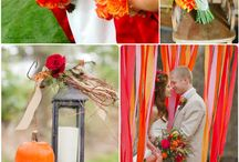 Orange and ?? Wedding