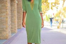 Midi Dresses / In love with the ease and flattering style a good midi dress brings...