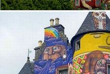 Street Art on buildings / by Donna Staten