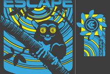 Nature inspiration - Follow My Eyes design / Nature inspiration - first hoodie and t-shirt design for 2015. On T-shirts and sweatshirts climbed endangered species the prosimians - Tarsier