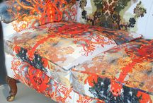 all fabric, cushions, upholstery.