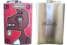 Duser Flasks / High Quality 8oz. Flasks custom printed with Duser graphics on the front and a laser etched Duser logo on the back.